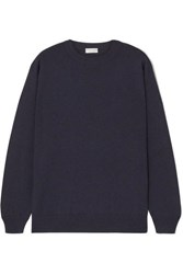 Brunello Cucinelli Bead Embellished Cashmere Sweater Blue