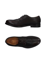 Eleventy Lace Up Shoes Dark Brown