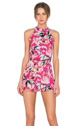 Eight Sixty Stella Romper Fuchsia