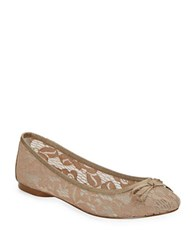 Adrianna Papell Sophie Lace Ballet Flats Nude