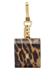 Burberry Leo Printed Leather Earphone Case Leopard