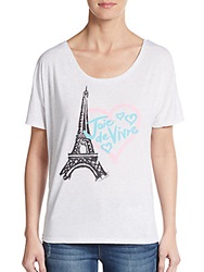 Crooked Monkey Joie De Vivre Graphic Tee White