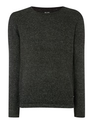 Only And Sons Textured Crew Neck Pull Over Cardigan Black