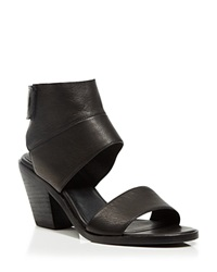 Eileen Fisher Ankle Cuff Sandals Art Block Heel Black