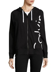 Calvin Klein Hooded Long Sleeve Jacket Black