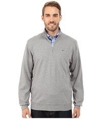 Vineyard Vines 1 4 Zip Jersey Medium Heather Grey Men's Long Sleeve Pullover Gray