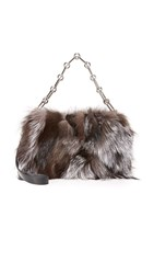 Michael Kors Julie Fur Camera Bag Silver