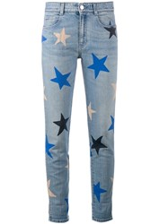 Stella Mccartney Star Print Cropped Jeans Blue