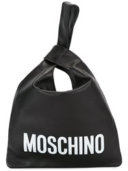 Moschino Loop Strap Tote Black