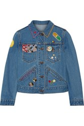 Marc Jacobs Embellished Denim Jacket Mid Denim