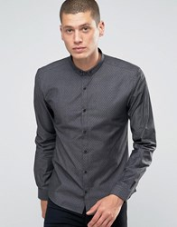 Boss Hugo By Hugo Smart Shirt Slim Fit Stretch Denim Dot Black