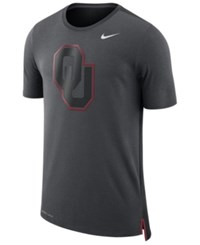 Nike Men's Oklahoma Sooners Meshback Travel T Shirt Anthracite