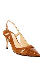 Ivanka Trump Billa Slingback Pointy Toe Pump Brown