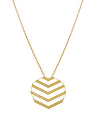 Trina Turk Chevron Pendant Necklace Gold