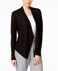 Eileen Fisher Organic Linen Open Front Cardigan A Macy's Exclusive Style Black