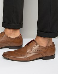 Base London Sew Leather Oxford Brogue Shoes Brown