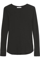 Helmut Lang Cotton And Cashmere Blend Jersey Top Black
