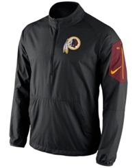 Nike Men's Washington Redskins Lockdown Half Zip Jacket Black Red Yellow