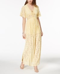 Disney Princess Juniors' Lace Maxi Dress Sunlight