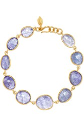 Pippa Small 18 Karat Gold Tanzanite Bracelet