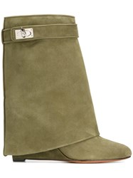 Givenchy Shark Lock Ankle Boots Green
