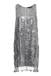 French Connection Cindy Sparkle Sequin Dress Grey