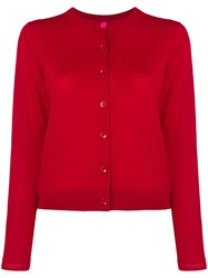 Paul Smith Ps By Buttoned Cardigan Red