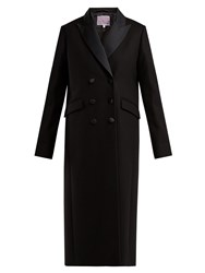 Alexachung Double Breasted Wool And Cashmere Blend Coat Black