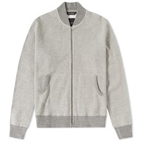 Wings Horns Wings Horns Honeycomb Knit Bomber Jacket Grey