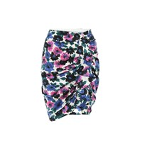Veronica Beard Ravello Floral Stretch Silk Skirt Multicoloured