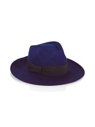 Paul Smith Black Felted Degrade Fedora Hat Navy