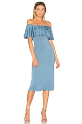 Rachel Pally Ruffle Midi Dress Blue