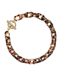 Tortoise Link Pave Toggle Necklace Michael Kors