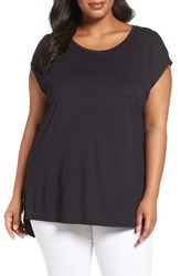 Sejour Plus Size Women's Cap Sleeve Tee