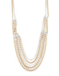 Rj Graziano Two Tone Layered Necklace Multi