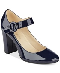 Marc Fisher Shaylie Mary Jane Pumps Women's Shoes Blue Patent