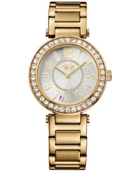 Juicy Couture Women's Luxe Couture Gold Tone Stainless Steel Bracelet Watch 34Mm 1901151