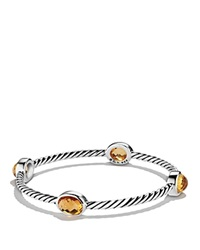 David Yurman Color Classics Four Station Bangle With Citrine Silver