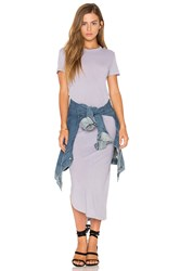 Stateside Short Sleeve Maxi Dress Gray