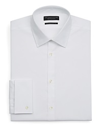 The Men's Store At Bloomingdale's White Textured Dress Shirt Contemporary Fit