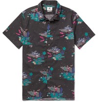 Paul Smith Ps By Slim Fit Printed Cotton Poplin Shirt Black