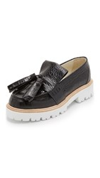 Msgm Rope Tassel Loafers Black