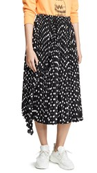 Marc Jacobs The Pleated Skirt Black White