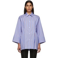 Toteme Blue And Red Striped Sedona Shirt