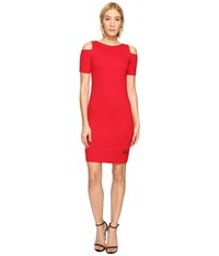 Love Moschino Cold Shoulder Dress Red
