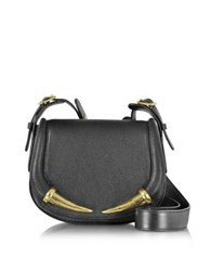 Roberto Cavalli Kripton Black Leather Small Shoulder Bag