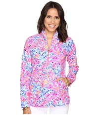 Lilly Pulitzer Skipper Popover Multi Coco Coral Crab Women's Long Sleeve Pullover Pink