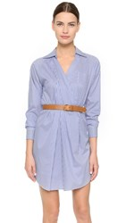 Dsquared Striped Shirtdress White Blue