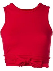 Live The Process Cropped Ballet Top Red