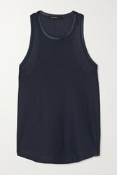 Koral Aerate Stretch Mesh Tank Midnight Blue